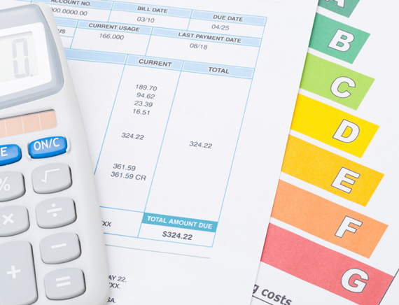 energy bills and calculator