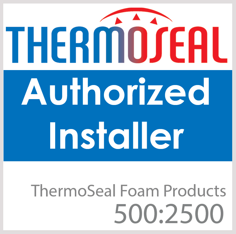 approved thermoseal installer badge red white and blue