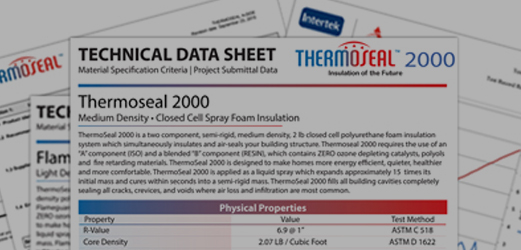 thermoseal collage of technical data documents