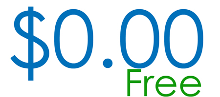 $0.00 with the word free in green below