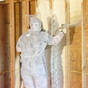 thermoseal contractor spraying foam in interior walls